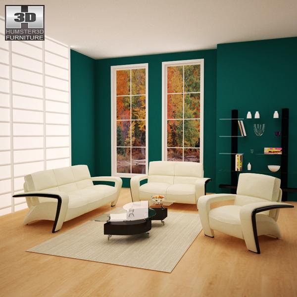 Living Room Furniture 08 Set 3D model