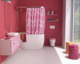3D model of Bathroom 07 Set