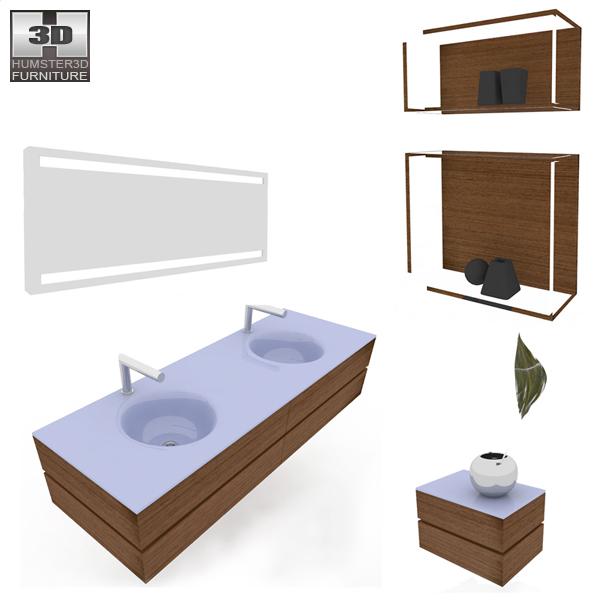 Bathroom Furniture 10 Set 3d model