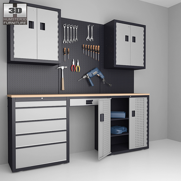 3D model of Garage 03 Set – Furniture and Tools