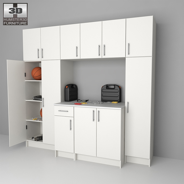 3D model of Garage Furniture 02 Set