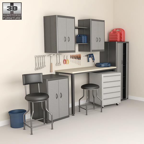 3D model of Garage Furniture 05 Set