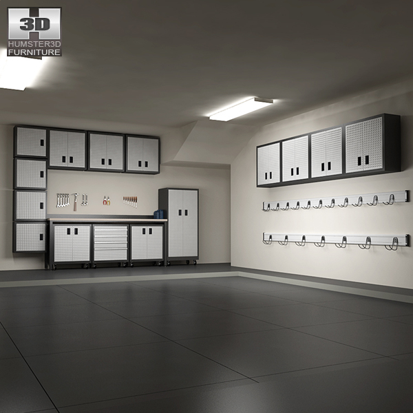 3D model of Garage Furniture 06 Set