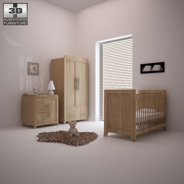 Nursery Room Furniture 09 Set 3D model