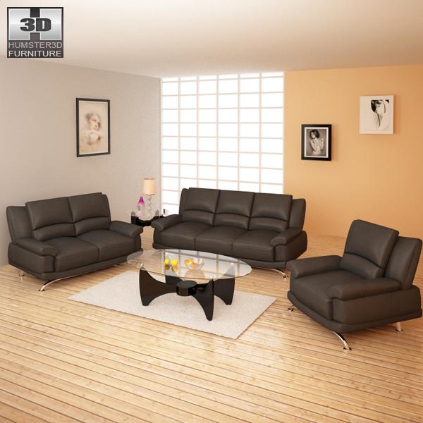 Living Room Furniture 09 Set 3D model