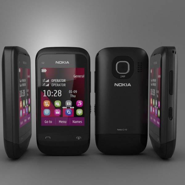Nokia C2-02 3d model