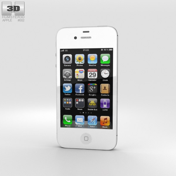 Apple iPhone 4s 3D model