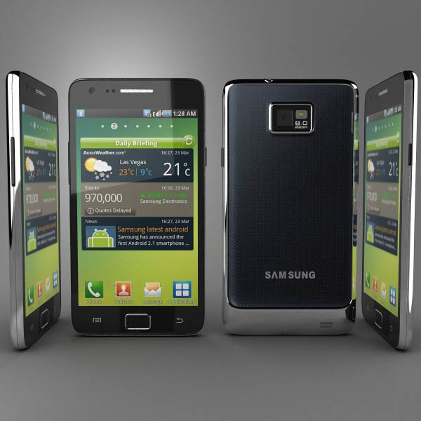 Samsung Galaxy S2 3d model