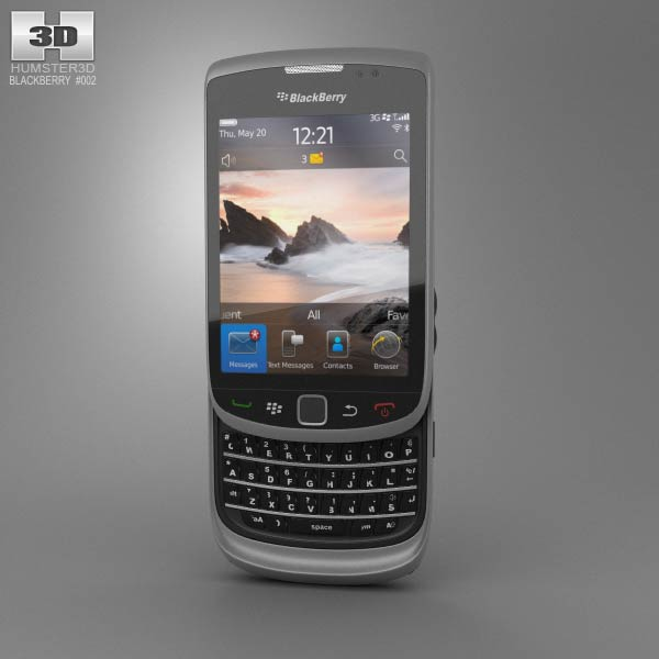 3D model of BlackBerry Torch 9800