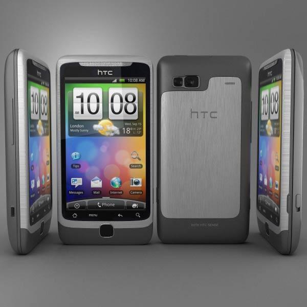HTC Desire Z 3d model