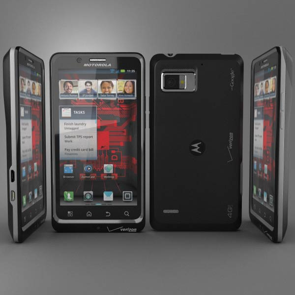 Motorola Droid Bionic 3d model