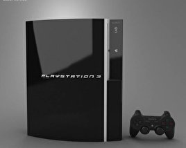 3D model of Sony PlayStation 3