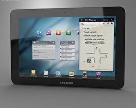 3D model of Samsung Galaxy Tab 10.1