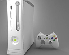 3D model of Microsoft X-Box 360