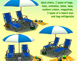 3D model of Beach Set