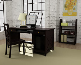 3D model of Home Workplace Furniture 07