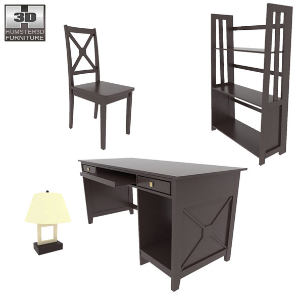 Home Workplace Furniture 07 3d model