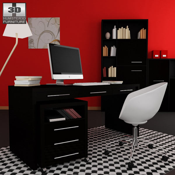 3D model of Home Workplace Furniture 08
