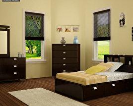 Bedroom Furniture 25 Set 3D model