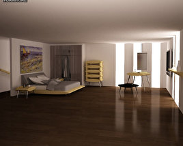 3D model of Bedroom Furniture 27 Set