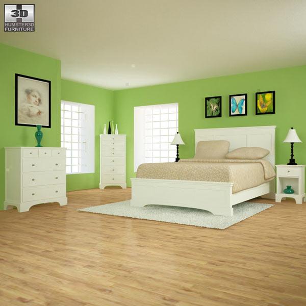 Bedroom furniture set 28 3D model
