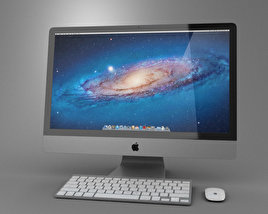 3D model of Apple iMac 27 2012