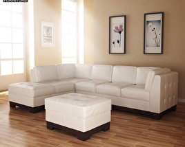 3D model of Leather Sofa Sectional Set