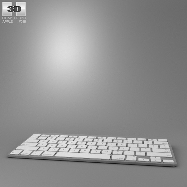 Apple Wireless Keyboard 3D model