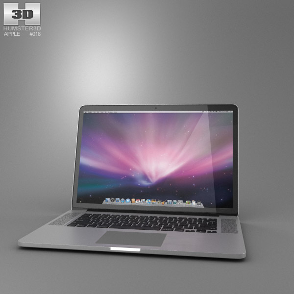 Apple MacBook Pro with Retina display 15 inch 3d model