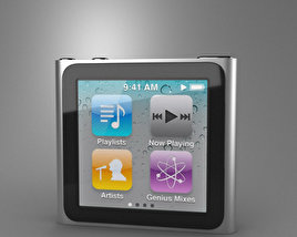 3D model of Apple iPod nano