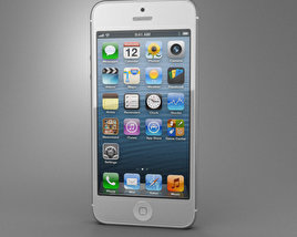 3D model of Apple iPhone 5 White