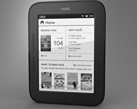 3D model of Barnes & Noble Nook Simple Touch