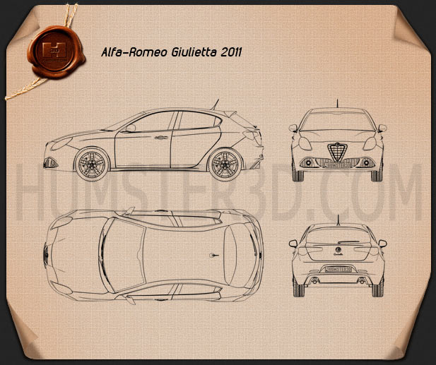 Alfa Romeo Giulietta 2011 Blueprint