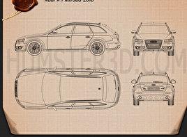 Audi A4 Allroad Quattro 2010 Blueprint