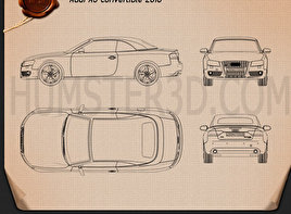 Audi A5 Convertible 2010 Blueprint