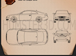 Audi A5 Coupe 2010 Blueprint