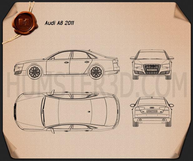 Audi A8 2011 Blueprint