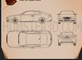 Audi S5 coupe 2009 Blueprint