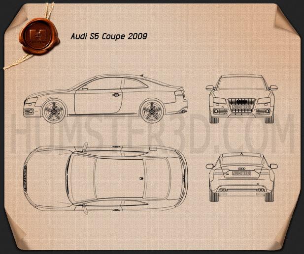 Audi S5 coupe 2009 Blueprint