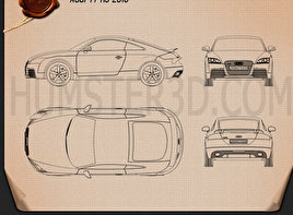 Audi TT RS 2010 Blueprint