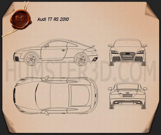 Audi TT RS 2010 Blueprint