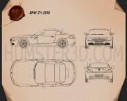 BMW Z4 2010 Blueprint 3d model