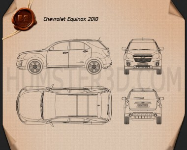 Chevrolet Equinox 2010 Blueprint