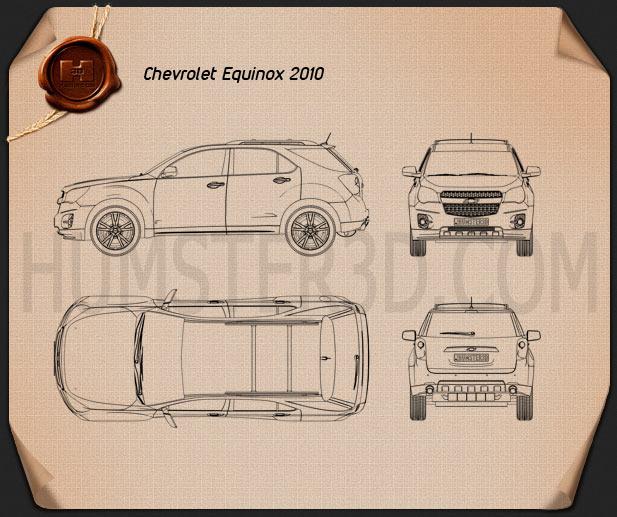 Chevrolet Equinox 2010 Blueprint