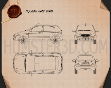 Hyundai Getz 2008 Blueprint