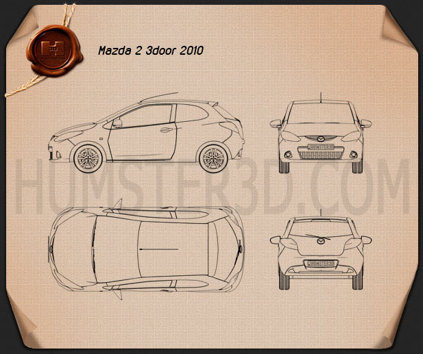 Mazda Demio (Mazda2) 3-door Blueprint