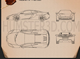 McLaren MP4-12C 2011 Blueprint