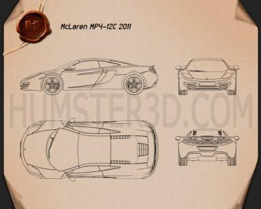 McLaren MP4-12C 2011 Blueprint