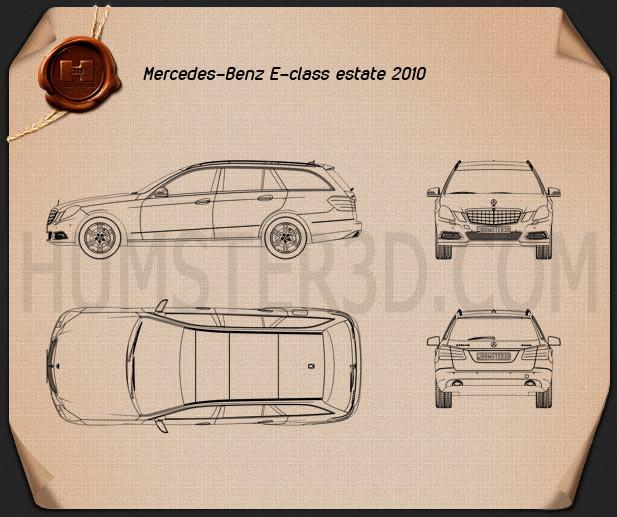 Mercedes-Benz E-class 2010 Estate Blueprint
