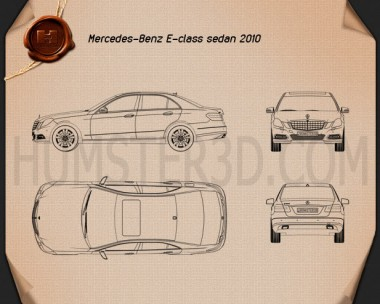 Mercedes-Benz E-Class 2010 Blueprint